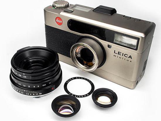MGRProductionLeicaMiniluxtoLeicaMmountle 1 - Adaptador para convertir el objetivo Leica Minilux Summarit 40 f:2,4 a M de MGR Production